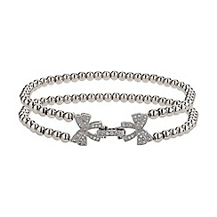 Mikey London - White twin butterfly inter lock bracelet