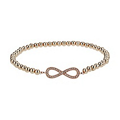 Mikey London - Rose gold crystal bow elastic bracelet