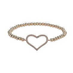 Mikey London - Rose gold elastic heart bracelet