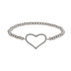Mikey London - White elastic heart bracelet