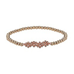 Mikey London - Rose gold crystal flower elastic bracelet