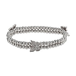Mikey London - White triple butterfly twin line bracelet