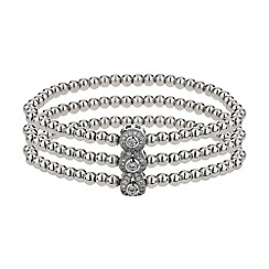 Mikey London - White triple oval linked crystal bracelet