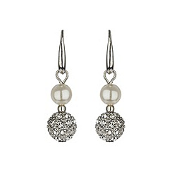 Mikey London - White crystal ball earring