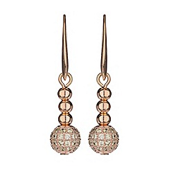 Mikey London - Cubic crystal ball drop earring