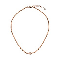 Mikey London - Cubic crystal ball elastic necklace