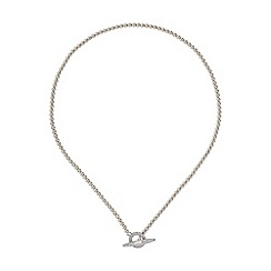 Mikey London - White clip lock metal chain necklace