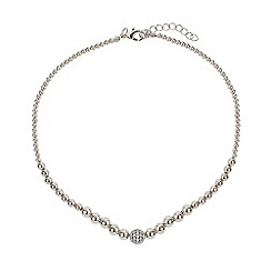 Mikey London - White fine cubic ball multi metal necklace