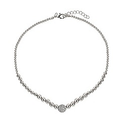 Mikey London - White fine cubic 12mm ball metal necklace
