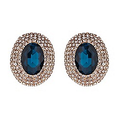 Mikey London - Oval crystal marquise clip on earring