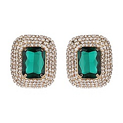 Mikey London - Rectangle stone marquise drop clip on earring