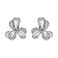 Mikey London - Triple bow crystal stud earring