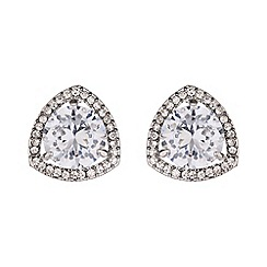 Mikey London - Centre crystal triangle marquise stud