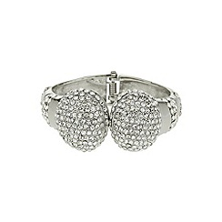 Mikey London - White twin crystal ball bracelet