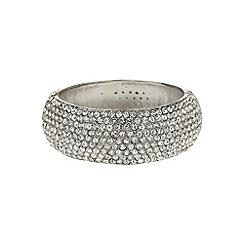Mikey London - White wide full crystal bracelet