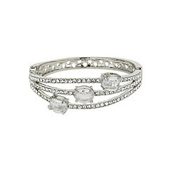 Mikey London - White triple line crystal oval stones bracelet