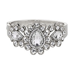 Mikey London - Filigree design oval stone centre cuff
