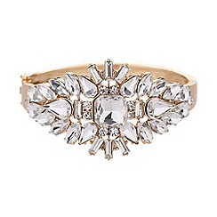 Mikey London - Crystal oval spikes centre cuff bracelet