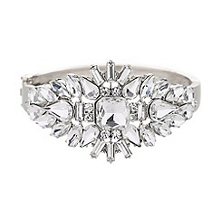 Mikey London - Crystal oval spikes centre cuff bracelet
