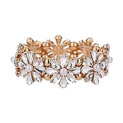 Mikey London - Daisy flower pearl elastic bracelet