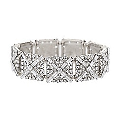 Mikey London - Square crystal blocks elastic bracelet