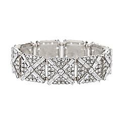 Mikey London - Square crystal blocks elastic bracelet