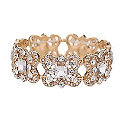 Mikey London - Curved square crystal elastic bracelet