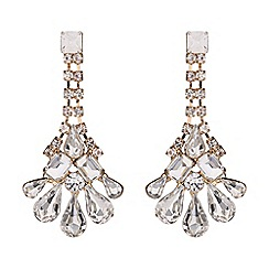 Mikey London - Crystal chain drop flower earring