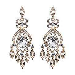 Mikey London - Long drop filigree spread earring