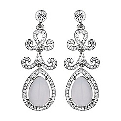 Mikey London - Oval stone drop design earring
