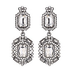 Mikey London - Diamond shape crystal earring