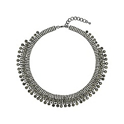 Mikey London - Black crystal lines necklace