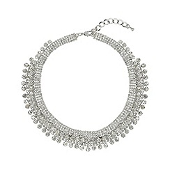 Mikey London - White crystal lines necklace