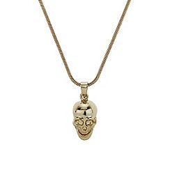 Mikey London - Gold skull necklace