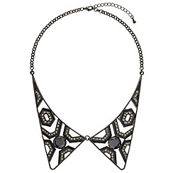 Mikey London - Black two piece diamonte collar