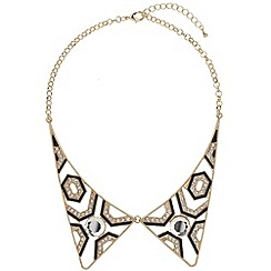 Mikey London - Gold two piece diamonte collar