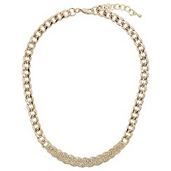 Mikey London - Gold woven design crystals choker