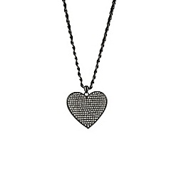 Mikey London - Black large heart necklace