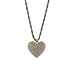 Mikey London - Gold large heart necklace