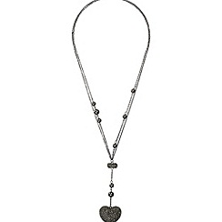 Mikey London - Black heart necklace