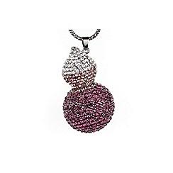 Mikey London - Purple twin crystal pendant