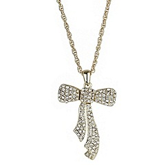 Mikey London - Gold open bow necklace