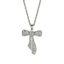 Mikey London - White open bow necklace