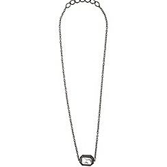 Mikey London - Black large stone chain pendant