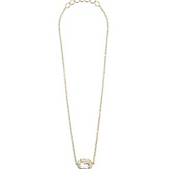 Mikey London - Gold large stone chain pendant