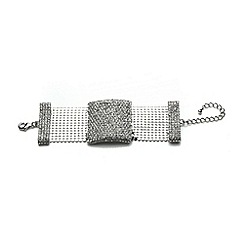 Mikey London - White crystal rectangle design bracelet