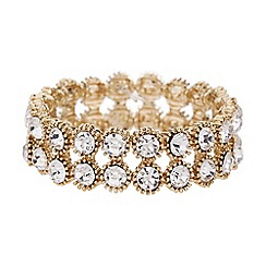 Mikey London - Twin line crystal stone elastic bracelet