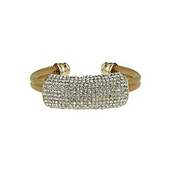 Mikey London - Gold crystal band bracelet
