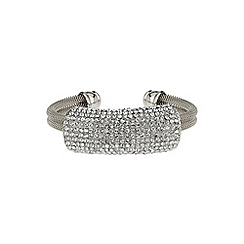Mikey London - White crystal band bracelet