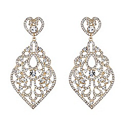 Mikey London - Large oval filigree crystal spread earring